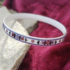 Vtg Norwegian Folk Painted Enamel Bandle Bracelet!